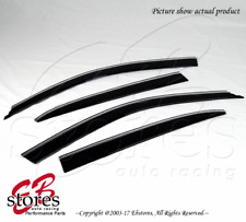Rain Guard Low Profile Chrome Trim Visor 4pcs Out-Channel For Lexus LS430 01-06