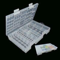 AAA AA C D 9V  Battery Storage Case Holder Hard Plastic Box Organiser