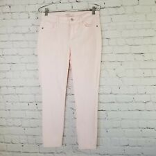Old Navy Womens Jeans Size 6 ROCKSTAR Super Skinny Cropped Ankle Pink Mid Rise