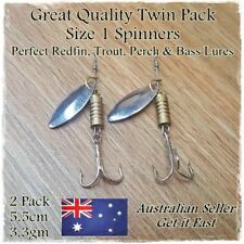2 Redfin Fishing Lures Spinners Spoons Trout Perch Cod Yellowbelly Bass Bream #1
