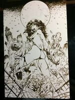 Vampirella - 2006 Halloween Special B+W VIRGIN SKETCH Variant LTD to 500 COPIES!