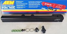 AEM Fuel Rail D16Y5 D16Y7 D16Y8 D16B5 96-00 Honda Civic EK Turbo (Black)