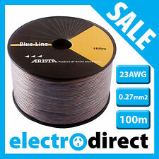 ARISTA brand 23AWG 0.27mm2 Speaker Cable 100m Reel High Quality OFC Cord New