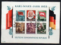 East Germany Miniature Sheet of Stamps c1953 Fine Used on Piece (8096)
