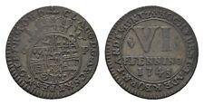 MGS PADERBORN BISTUM Clemens August von Bayern Ku.-6 Pfennig 1745 f.vz