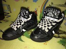 OSIRIS NYC 83 LUCKY 13 Men's Skateboard Sneakers Black/White w Skulls SZ 8