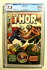 Thor #172 (Marvel January 1970) CGC 7.5 Off-White to White Pages Stan Lee Kirby