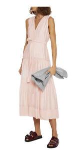 $750 Phillip Lim Tiered Silk Dress Sz 8 Pretty! Sale