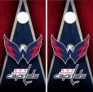 Washington Capitals Cornhole Wrap Skin Board NHL Sports Vinyl Decal GC86
