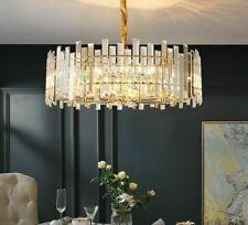 Modern Crystal Pendant Light Home Chandelier Industrial Vintage LED E14 Lighting