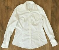 Brunello Cucinelli rare ladies womens white stretch shirt size M