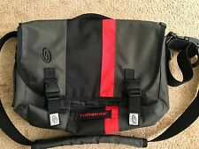 TIMBUK2 D-LUX Laptop Racing Stripe Messenger Bag black/grey/red SMALL *MUST SEE*