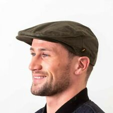Irish Waxed Flat Cap - New from Ireland - Olive Green