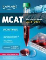 MCAT Biochemistry Review 2018-2019: Online + Book [Kaplan Test Prep]