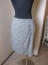 6a6606d612 Emanuel Ungaro Skirt Wrap 100% Silk Gray Floral Print Size 44 US 8 New