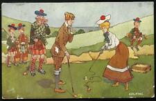 Golf Comic. Golfing by Hamish Hebblethwaite in Tuck Series 9515.