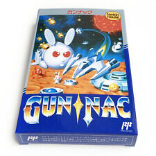 GUN NAC - Empty box replacement custom case for Famicom game +tray