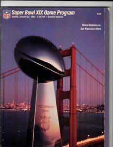 1985 NFL Super Bowl XIX Miami Dolphins vs. San Francisco 49ers Program