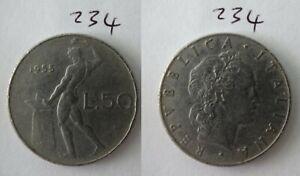 1955 Italy 50 Lire Italian Old Coin 234