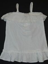 NWT BABY GAP GIRLS 4T 4 RUFFLED TANK TOP WHITE LACE BRAIDED BUTTERFLY CANYON