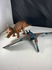 Jurassic World Triceratops And Pterodactyl Roarivores - Working