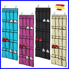 Organizador de ZAPATOS zapatillas Colgante para puerta 20 BOLSILLOS 128 X 45
