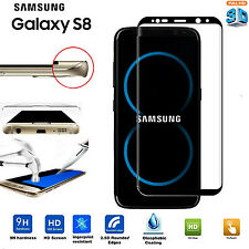 NEW Curved 3D Tempered Glass Screen Protector cover For Samsung Galaxy S8 BLACK
