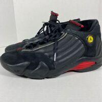 Nike Air Jordan 14 Retro Basketball Shoes Mens Sz 12 M Black Red Last Shot Bred*