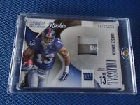 2009 NATIONAL TREASURES ROOKIE LAUNDRY TAG RAMSES BARDEN NEW YORK GIANTS 27/50 R