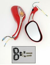 8mm Pair of Red Mirrors Scooter Moped Go Kart Bike GY6 50cc 150cc 125cc Taotao