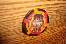 Harley Davidson Motorcycles Poker Chip, Card Guard FLAME'S Harvey Davidson rbo