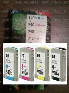 "GENUINE HP 940XL EXPIRED FOIL PACKS ""TWO SETS 8 CARTRIDGES"" VAT INC FASTPOST"
