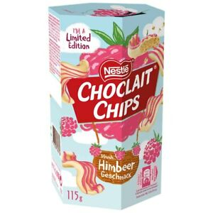 Nestle Choclait Chips RASPBERRY Limited Edition- 2 x 115g - Shipping Worldwide -