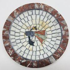 "Holte Mosaic Denmark 8"" Fish Theme Plate Or Dish Stone Tile Art Design"