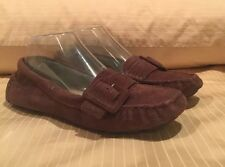 UGG 5767 RETREAT WOMEN'S BROWN LEATHER SLIP ON LOAFER SHOES SIZE 6.5