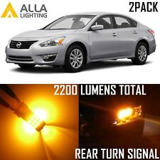 Alla Lighting Rear Turn Signal Light 3156AK Amber LED Blinker Bulbs for Nissan
