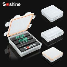 SOSHINE HARD PVC PLASTIC CASES 18650 BATTERY COVER HOLDER CELLS STORAGE CASE BOX