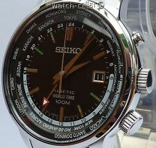 SEIKO BRAND NEW MEN'S KINETIC GMT WORLD TIME WATCH. SUN069P1