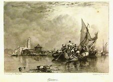 ITALY MURANO VENICE AFTER CLARKSON STANFIELD PENCIL S AKEHURST C1840