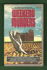 WEEKEND MURDERS 1972 (MGM/UA Home Video) gialli BIG Box clamshell PAL UK vhs OOP