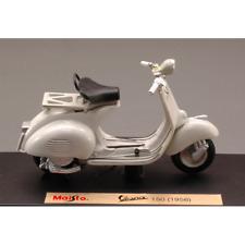 VESPA 150 1956 WHITE 1:18 Maisto Moto Die Cast Modellino