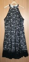 """ModCloth Size 20 20W """"A Night Like This"""" Black Lace Halter Dress NWOT"""