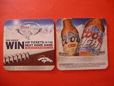 2012 Beer Coaster    COORS Light Silver Bullet ~ Win Denver BRONCOS Football Tix