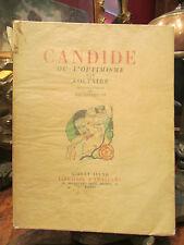 ancien livre 1933 candide l'optimisme voltaire brunelleschi numeroté amateurs
