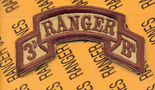 3rd Bn 75th Inf AIRBORNE RANGER Regt Desert scroll patch c/e 2-J