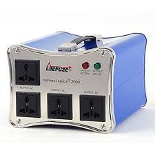 LiteFuze convertingbox 2000 Watt Voltage Converter Transformer Premium - Blue