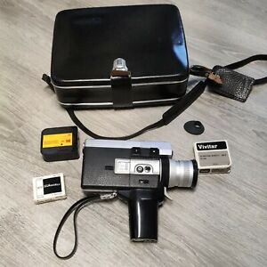 CANON AUTO ZOOM 518 SUPER 8 Movie Camera w/Leather Case Vintage in Original Box