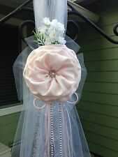 SET OF 6 Blush Pink Wedding decoration Chair Bows, Pew Bows, Arch  Aisle decor
