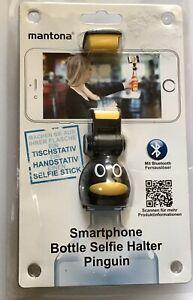 Mantona Mantona Smartphone Bottle Selfie Halter Pinguin (21236) NEU OVP