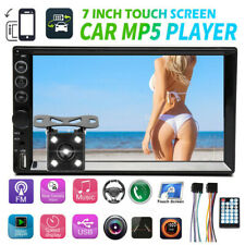 7'' Double Din Car Stereo With Backup Camera Touch Screen Radio For Mirror Link